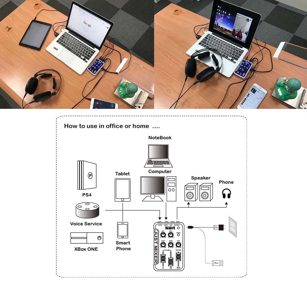 Just Mixer application for office