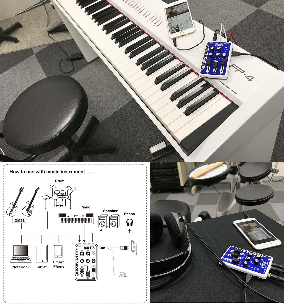Just Mixer Application for Instrument