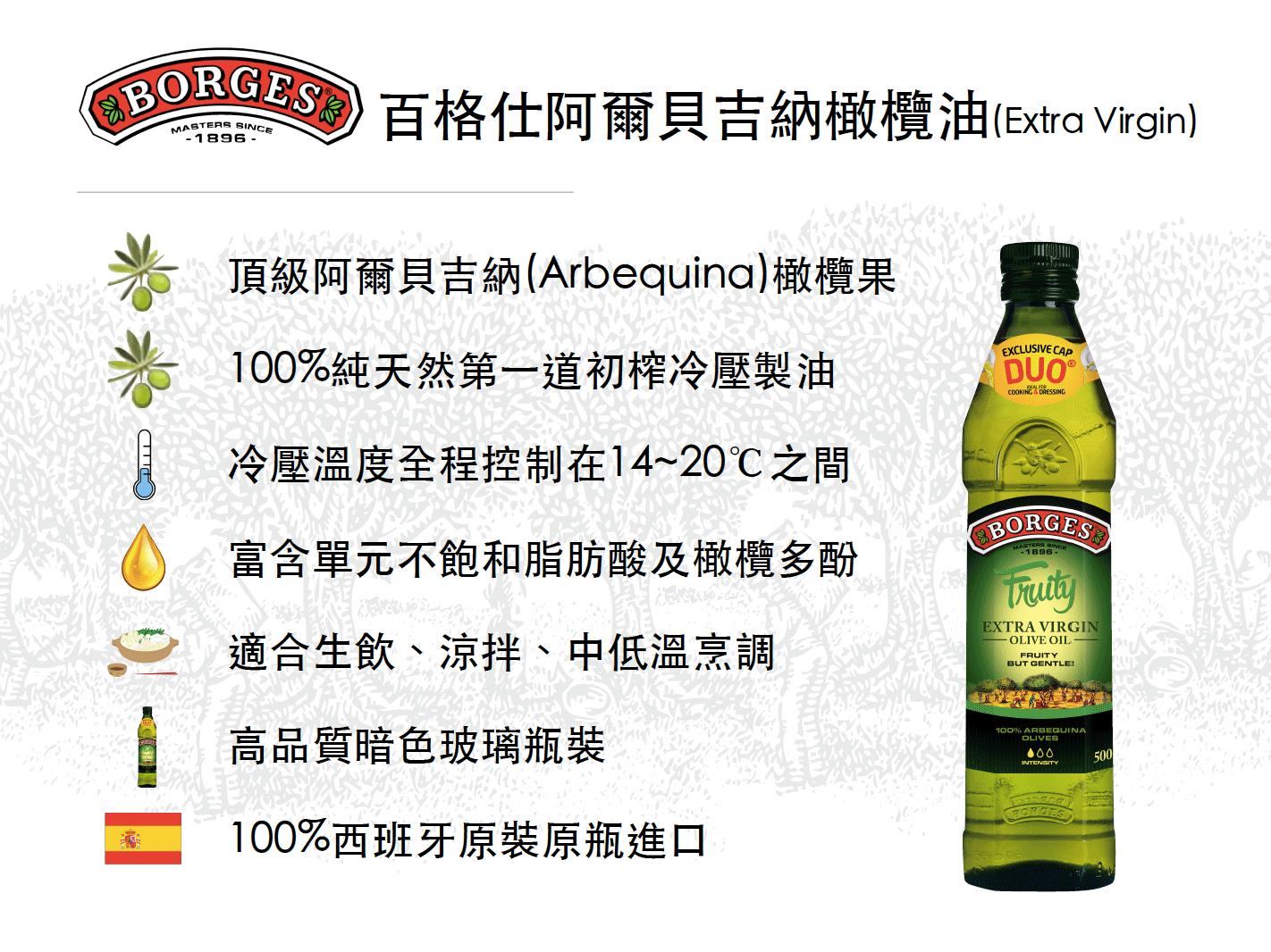 百格仕阿爾貝吉納(Arbequina)橄欖油