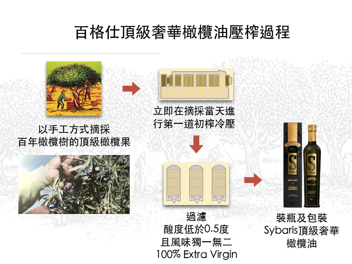 百格仕Sybaris頂級奢華橄欖油壓榨過程